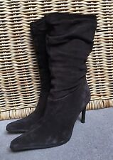 FAITH BROWN SUEDE BOOTS size 5 UK