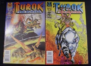 TUROK THE HUNTED 1-2 VALIANT COMIC SET COMPLETE MIKE GRELL FURMAN COUTO 1996 NM