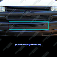 Fits 2000-2006 Chevy Avalanche/ Suburban/ Black Top Bumper Billet Grille