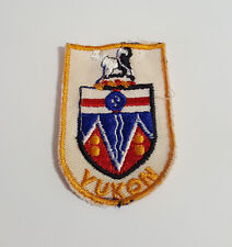 The flag of Yukon, Canada, tricolour with the coat of arms Sewing Patch