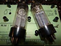 2 Röhren Valvo & Siemens PL36 Tube 65/80 mA Valve  auf Funke W19 geprüft BL-1830