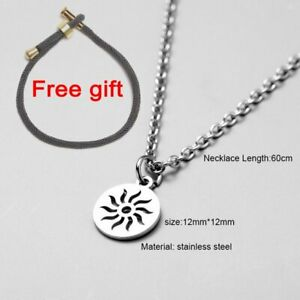 Simple Stainless Steel Long Chain Choker Men Women Pendant Necklace Jewelry Gift