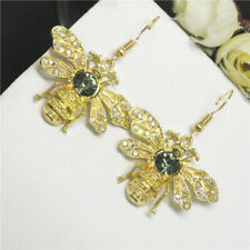 New Betsey Johnson Cute Retro Bee Honey Insect Crystal Stand Earrings Gift
