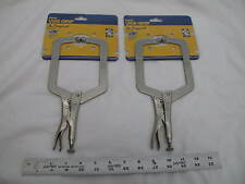 "(2) New Irwin 9"" Vise-Grip Large Capacity C-Clamp 9Dr Capacity 4-1/2"""