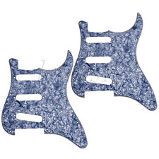 2Pcs Gutiar Pickguard for Fender Straocaster Replacement Gray Pearl 3Ply SSS