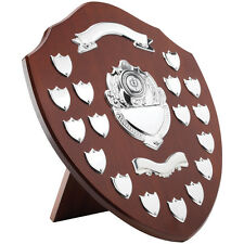 ANNUAL SHIELD HIGH QUALITY WOOD & CHROME 17 YEAR TRIUMPH FREE ENGRAVING TRS16