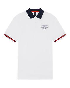 Aston Martin Racing Polo Shirt Men's Hackett Polo Shirt - White - New
