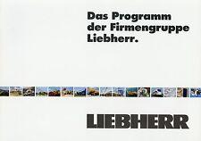 Liebherr Prospectus 2001 engins de chantier baukrane Excavateurs bouteurs Glisseur