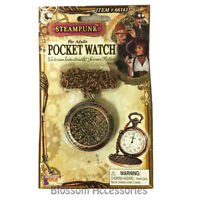 A986 Steampunk Toy Pocket Watch Open Face Victorian Pendant Costume Accessory