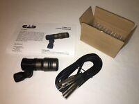 CAD TSM411 Dynamic Mic Pro Snare Drum Tom Cajon Bongo Microphone+10' XLR TSM 411