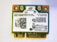 Intel Wlan + Bluetooth 4.0 Wifi / Wireless AC 3160 Mini-PCI Express (B-G-N-AC)