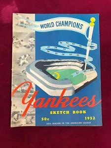 1952 New York Yankees Sketch Book MICKEY MANTLE, Yogi BERRA *FC4