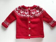 56 62 68 74 80 X-mas Weihnachten Baby Jungen Pullover Strick Strickpullover Gr