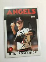 F66283 In Person Auto/Signed Baseball Card RON ROMANICK ANGELS