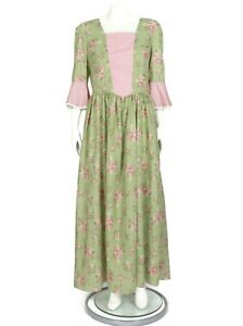 Vintage 1970s Prairie Maxi Dress Patchwork Green Red Floral Gunne size M/L - 162