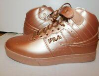 FILA USA Vulc 13 Metallic Sneakers size 10 NWOB Rose Gold