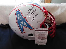 Mike Munchak signed T B Oilers custom F/S  helmet, JSA, HOF 2001, 9 X Pro Bowl
