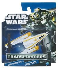 STAR WARS TRANSFORMERS CLONE TROOPER PILOT TO Y-WING FIGHTER ACTION FIGURE 2011