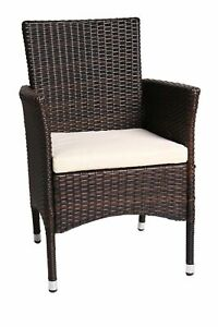 Gartenstuhl Gartensessel Poly-Rattan Stuhl Gartenmöbel Relax Chair Grau,Braun DE