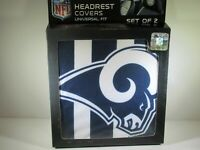 Los Angeles Rams  2-Pack Color Print Auto Car Truck Headrest Covers