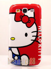 for Samsung galaxy s3 case white face red bow cute hello kittty i9300 / S III
