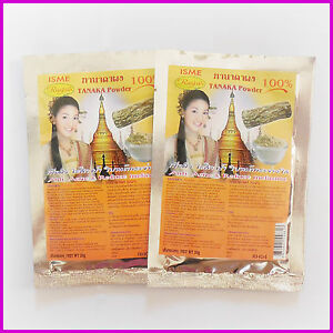 2 Pack TANAKA POWDER THANAKA Acne Anti Ageing Reduce Melasma Skin Mask Scrub