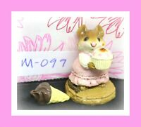 ❤️Wee Forest Folk M-099 Birthday Girl Mouse Pink Dress Cupcake 1983 Figure❤️