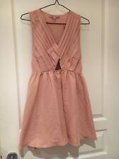 ASOS Petite Tan Peach Sleeveless Mini Summer Dress Size 10