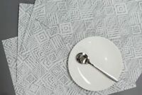 Placemats Set of 8 Woven PVC Heat Resistant Dining Table Mats White Washable