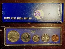 1967 US Coin Special Mint Set 40% Silver Kennedy Half - ORIGINAL AND BU COINS