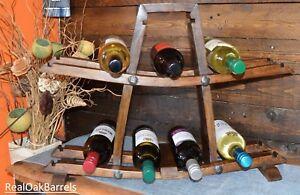 Solid Oak Whiskey Barrel, Rustic, Wine Bottle Rack, Best Christmas Present