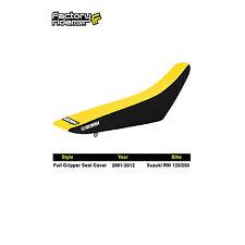 2001-2017 SUZUKI RM 125/250 Black/Yellow FULL GRIPPER SEAT COVER BY Enjoy MFG