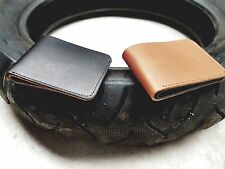 Slim Leather Wallet - Black Outer - Tan Inner
