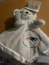 New England Patriots 14x14 Security Bear Blanket Baby Fanatic NFL Hologram NWT