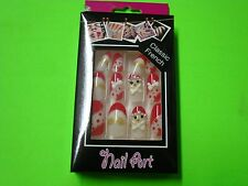 New ! 12 PK Classic French Design False Nail Art Manicure Tips Fashion Assorted