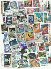 SPACE 50 USED DIFFERENT STAMPS