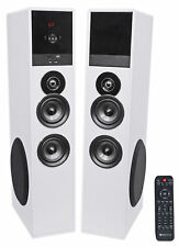 """Rockville TM80W Bluetooth Home Theater Tower Speaker System+(2) 8"""" Subwoofers!"""