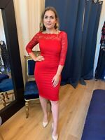 Ladies Red Party Dress Wedding Guest Outfit Races Formal Evening Dresses RRP £65