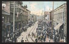 Postcard VANCOUVER BC CANADA  Cordova Street Stores & Military Parade 1907