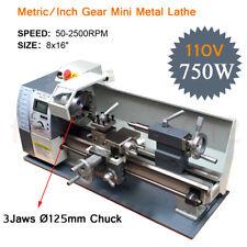 Mini Metal Lathe Machine 110V Variable-Speed 750W Stainless JadeSteel Processing