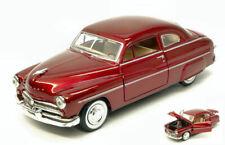 Mercury Coupe' 1949 Metallic Red 1:24 Model MOTORMAX