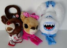 Lot of 3 Rudolph The Red Nosed Reindeer and Friends Plush Door Hangers