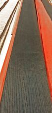 """Oak Black Brown Fumed wood veneer 5"""" x 116"""" with no backing raw 1/42"""" thickness"""