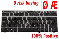 For HP EliteBook 2170P 700680-091 Laptop Keyboard Norwegian Danish Nordic Norsk
