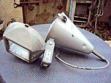 ancien projecteur industriel Philips en aluminium art-déco début 20 ème