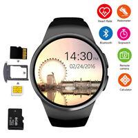 Smart Watch Waterproof Bluetooth Smartwatch for iPhone Samsung LG Huawei Black
