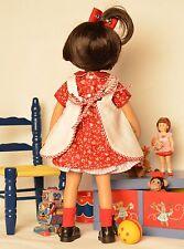 "13"" Doll Boneka Dianna Effner Little Darling Dress + Embroidered Pinafore 33cm"