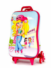 Disney Kid's Roller Bag school 3D Rolling Suitcase Luggage Backpack Alternative