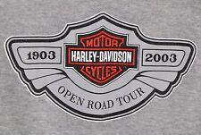 Harley-Davidson OPEN ROAD TOUR 2003 Sleeveless T-Shirt LARGE (Girls)