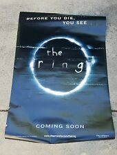 "The Ring 2002 Original Double-Sided Movie Poster banner 48x70"" huge!"